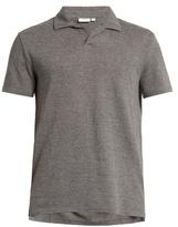 Onia Shaun linen-blend polo shirt