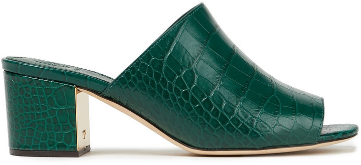 Tory Burch Martine Croc-effect Leather Mules