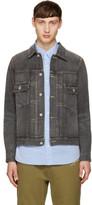 Visvim Grey Denim Damaged Jacket