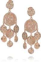 Oscar de la Renta Rose gold-plated clip earrings