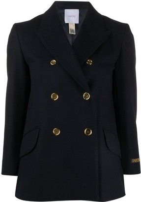 Patou Long Sleeve Double Breasted Blazer