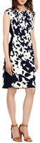 Lauren Ralph Lauren Printed Cap Sleeve Jersey Dress