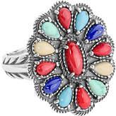 American West Sterling Multi-Gemstone Cluster Ring
