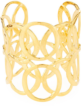 Kenneth Jay Lane Open Circles Cuff Bracelet