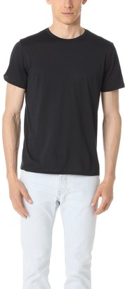 Theory Men's Claey Plaito Dressy Crew Neck T Shirt