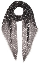 Saint Laurent Star-printed cashmere and silk scarf