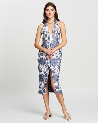 DERMA - Women's White Midi Dresses - Perla Dress - Size One Size, 6 at The Iconic