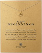 "Dogeared Reminders"" New Beginnings Rising Lotus Charm Necklace"