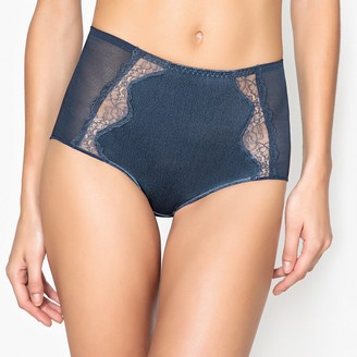 La Redoute Collections Tulle and Velvet Full Briefs