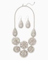 Charming charlie Desert Rose Bib Necklace Set Only 1 left Name Qty Desert Rose Bib Necklace Set 1 // Only 1 left in Silver!
