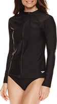 Speedo Solid Rash Guard Swimsuit Top