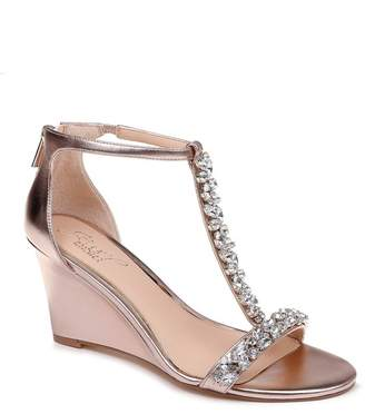 Badgley Mischka Meryl Embellished Wedge Sandal