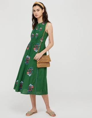 Under Armour Etti Embroidered Dress with Organic Cotton Green