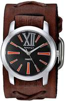 Nemesis Women's 'Roman Series' Quartz Stainless Steel and Leather Watch, Color:Brown (Model: BFXB065KN)