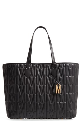 Moschino M-Quilted Leather Tote