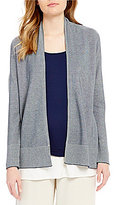 Eileen Fisher Simple Open Front Long Sleeve Cardigan