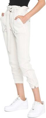 Pam & Gela Paperbag Waist Zip Cuff Crop Pants