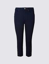 Per Una Button Hem Cropped Skinny Leg Jeans