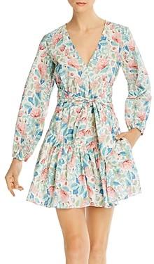 Rebecca Taylor La Vie Cotton Printed Fit-and-Flare Dress