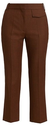 Victoria Beckham Penelope Cropped Wool Trousers