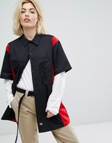 Dickies Work Shirt With Retro Colour Block