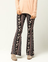 IVY & MAIN Linear Floral Womens Flare Pants