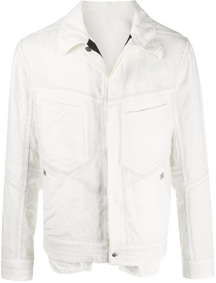Isaac Sellam Experience Refractaire buttoned shirt jacket