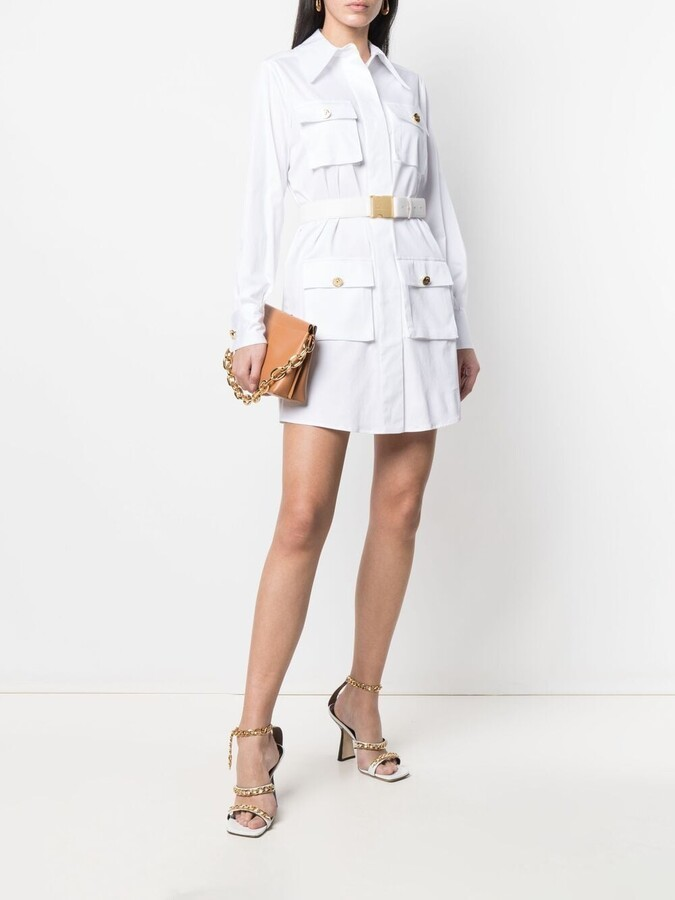 Thumbnail for your product : Elisabetta Franchi Cargo Pocket Shirt Dress
