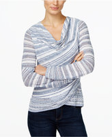 INC International Concepts Crossover Cowl-Neck Sweater, Only at Macy's