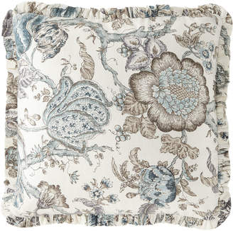 French Laundry Home Floral-Print Pillow with Mini Ruffle Flange