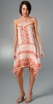 Deco Scallop Scarf Print Dress