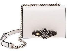 Alexander McQueen Women's Small Butterfly Jewelled Leather Satchel