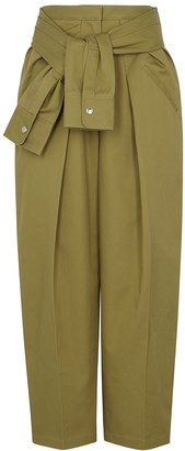 Alexander Wang Olive Straight-leg Twill Trousers