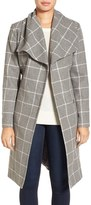 Kenneth Cole New York Women's Windowpane Wrap Coat