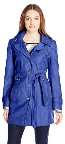 c220d7c58 Women's Single Breasted Double Collar Trench Coat