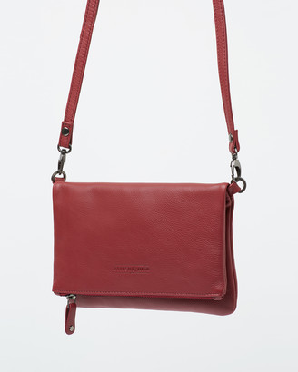 Stitch & Hide - Women's Red Leather bags - Piper Clutch Bag - Size One Size at The Iconic