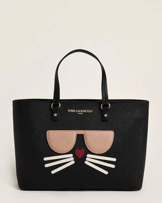 Karl Lagerfeld Paris Maybelle Saffiano Choupette Cat Satchel