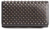 Christian Louboutin Women's 'Macaron' Studded Leather Continental Wallet - Black