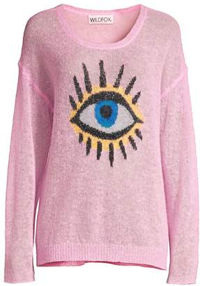 Wildfox Couture Eye See You Genesis Alpaca-Blend Sweater