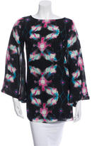 Halston Silk Galaxy Blouse