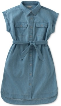 Calvin Klein Cotton Chambray Shirtdress, Big Girls (7-16)