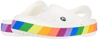 Crocs Crocband Rainbow Block Clog (White/Multi) Clog Shoes