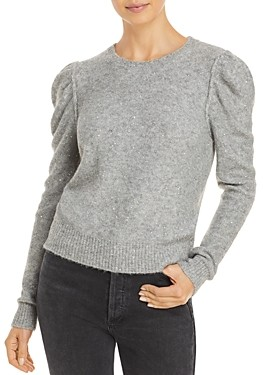 Generation Love Tinsley Sequin Puff Sleeve Sweater