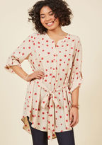 ModCloth Day for Night Tunic in Beige Blooms in 2X
