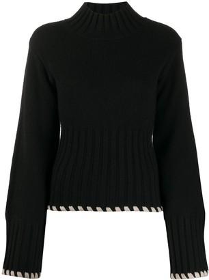 KHAITE Contrast Trim Sweater