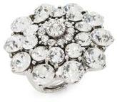 Oscar de la Renta Crystal Floral Ring