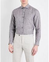 Corneliani Tailored-fit Spread Collar Pure-linen Shirt