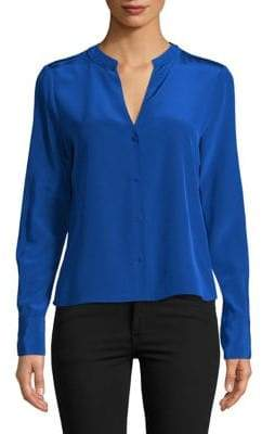 Diane von Furstenberg Long-Sleeve Silk Shirt