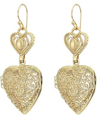 Vanessa Mooney The Love Locked Earrings (Gold) Earring