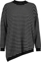 Zimmermann Asymmetric striped wool and cashmere-blend sweater
